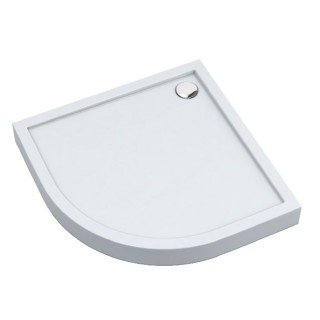 SCHEDPOL, SCHEDLINE COLLECTION Cameron Brodzik półokrągły Stabilsound ® 90x90cm, biały.