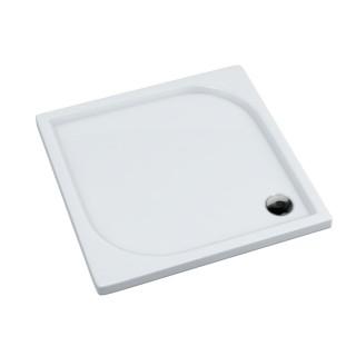 SCHEDPOL, SCHEDLINE COLLECTION Canes Brodzik kwadratowy Stabilsound Plus ® 80x80cm, biały połysk.