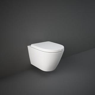 RAK CERAMICS Zestaw Resort Miska WC podwieszana 52x36 cm, rimless + deska standard wolnopadająca.