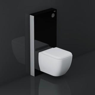 RAK CERAMICS Moduł sanitarny RAK-ECOFIX, 48,3x100,3x10,8cm, czarny.