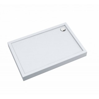 SCHEDPOL, SCHEDLINE COLLECTION Cameron White Brodzik prostokątny Stabilsound® 70x100x12cm, biały.