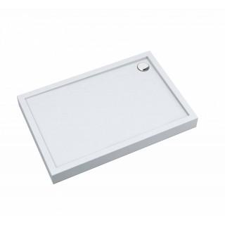 SCHEDPOL, SCHEDLINE COLLECTION Cameron White Brodzik prostokątny Stabilsound® 80x140x12cm, biały.