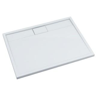 SCHEDPOL, SCHEDLINE COLLECTION Charis White Brodzik prostokątny Stabilsound Plus ® 80x100x5cm, biały.
