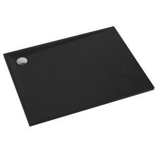 SCHEDPOL, SCHEDLINE COLLECTION Libra Black Stone Brodzik prostokątny Stabilsound Plus ® 80x90x3cm, czarny.