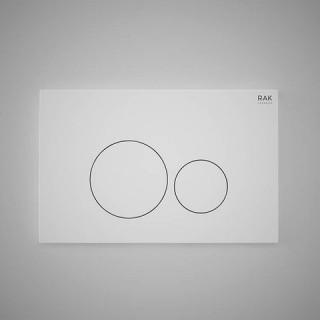 RAK CERAMICS Przycisk spłukujący okrąg 23,6x15,2x1,2cm, biały matt.