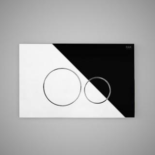 RAK CERAMICS Przycisk spłukujący okrąg 23,6x15,2x1,2cm, chrom połysk.