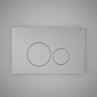 RAK CERAMICS Przycisk spłukujący okrąg 23,6x15,2x1,2cm, chrom matt.