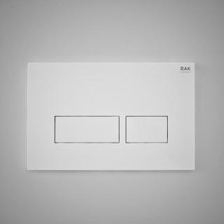 RAK CERAMICS Przycisk spłukujący prostokąt 23,6x15,2x1,2cm, biały matt.
