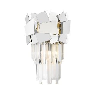 ZUMA LINE Lampa wewnętrzna kinkiet QUASAR, W0506-02A-B5AC, srebrny.