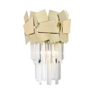 ZUMA LINE Lampa wewnętrzna kinkiet QUASAR, W0506-02A-B5E3, złoty.