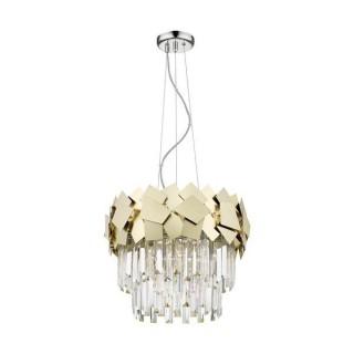 ZUMA LINE Lampa wewnętrzna wisząca QUASAR, P0506-05A-F4E3, złoty.