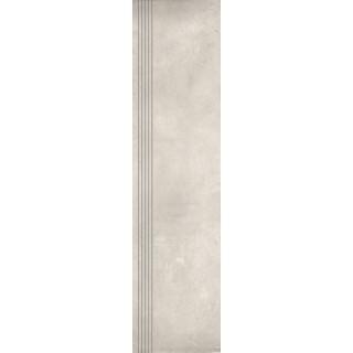 NOWA GALA Stopnica frezowana EB 03 natura gres rektyfikowany 29,7x119,7cm Gat.1