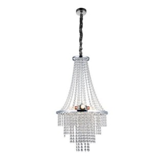ZUMA LINE Lampa wewnętrzna wisząca ALMERIA, YSC01, srebrny.