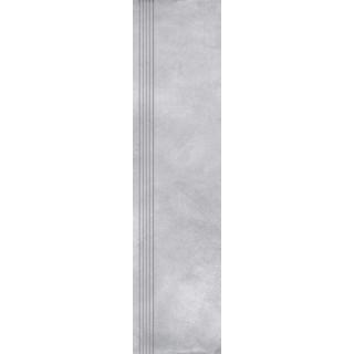 NOWA GALA Stopnica frezowana EB 12 natura gres rektyfikowany 29,7x119,7cm Gat.1