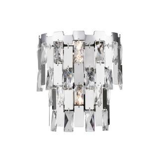 ZUMA LINE Lampa wewnętrzna kinkiet ANZIO, W0480-02B-B5AC, srebrny.