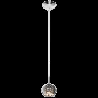ZUMA LINE Lampa wewnętrzna wisząca CRYSTAL, P0076-01A-F4FZ, chrom dymiony.