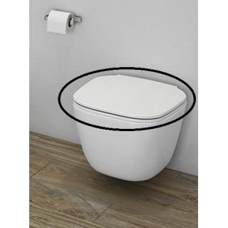 RAK CERAMICS One Deska WC wolnoopadająca slim, biały.