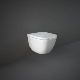 RAK CERAMICS Zestaw One Miska WC podwieszana 52x37 cm, rimless + deska standard bez w/o, biały połysk.