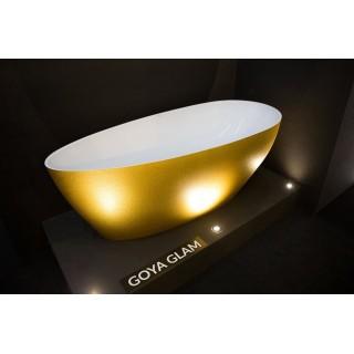 Goya Glam 140 XS wanna wolnostojąca 142x62cm, złoty.