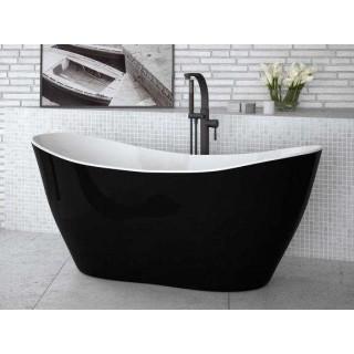 BESCO Viya B&W 160 wanna wolnostojąca 160x70cm, biało-czarna.
