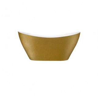 BESCO Viya Glam 160 wanna wolnostojąca 160x70cm, złoty.
