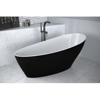 BESCO Keya B&W 165 wanna wolnostojąca 165x70cm, biało-czarna.