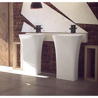 BESCO Assos umywalka wolnostojąca 40x50x85cm, biały połysk.