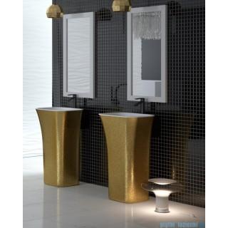 BESCO Assos Glam umywalka wolnostojąca 40x50x85cm, złoty.