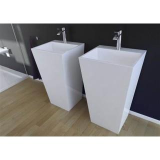 BESCO Vera umywalka wolnostojąca 40x50x85cm, biały połysk.