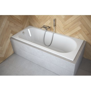 BESCO Intrica Slim 170 wanna prostokątna 170x75cm, biały połysk.