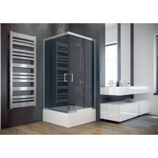 BESCO Modern 80 kabina prysznicowa kwadratowa 80x80x165 cm, szkło grafitowe, chrom.