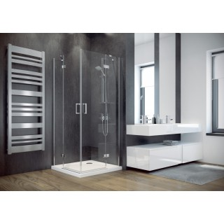 BESCO Viva 80 kabina prysznicowa kwadratowa 80x80x195 cm, szkło przejrzyste, chrom.
