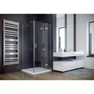 BESCO Viva 80 kabina prysznicowa kwadratowa prawa 80x80x195 cm, szkło przejrzyste, chrom.
