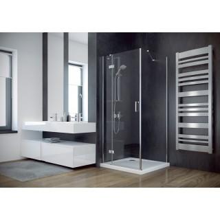 BESCO Viva 80 kabina prysznicowa kwadratowa lewa 80x80x195 cm, szkło przejrzyste, chrom.
