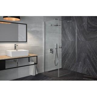 BESCO Pixa 90 kabina prysznicowa kwadratowa prawa 90x90x195 cm, szkło przejrzyste, chrom.