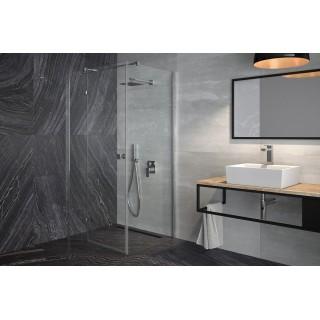 BESCO Pixa 90 kabina prysznicowa kwadratowa lewa 90x90x195 cm, szkło przejrzyste, chrom.
