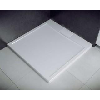 BESCO Axim UltraSlim Brodzik kwadratowy 80x80x2,5cm, biały.