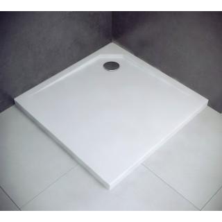 BESCO Acro UltraSlim Brodzik kwadratowy 80x80x2cm, biały.
