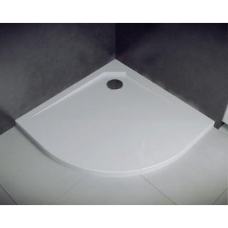 BESCO Asco UltraSlim Brodzik półokrągły 80x80x2cm, biały.