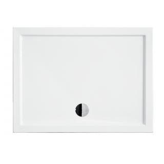BESCO Alpina SlimLine 100 zintegrowany Brodzik prostokątny 100x80x3cm, biały.