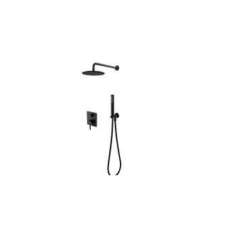 BESCO Decco/Illusion I Zestaw prysznicowy podtynkowy, czarny matt.