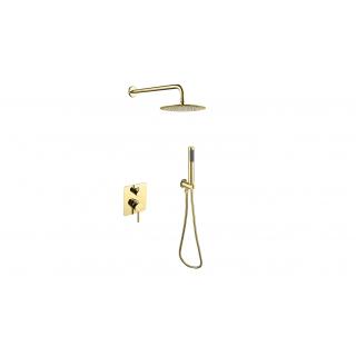 BESCO Decco/Illusion I Zestaw prysznicowy podtynkowy, złoty.