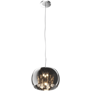 ZUMA LINE Lampa wewnętrzna wisząca CRYSTAL, P0076-03E-F4FZ, chrom dymiony.