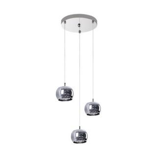 ZUMA LINE Lampa wewnętrzna wisząca CRYSTAL, P0076-03M-B5FZ, chrom dymiony.