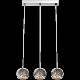 ZUMA LINE Lampa wewnętrzna wisząca CRYSTAL, P0076-03N-B5FZ, chrom dymiony.