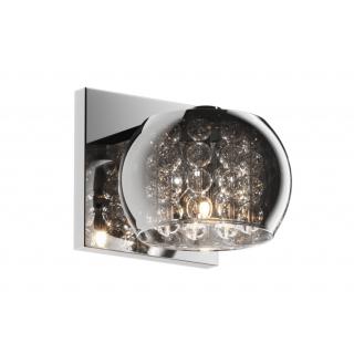 ZUMA LINE Lampa wewnętrzna kinkiet CRYSTAL, W0076-01A-B5FZ, chrom dymiony.