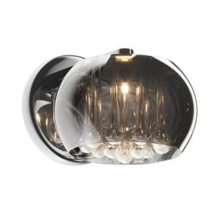 ZUMA LINE Lampa wewnętrzna kinkiet CRYSTAL, W0076-01D-F4FZ, chrom dymiony.