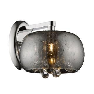 ZUMA LINE Lampa wewnętrzna kinkiet RAIN, W0076-01D-F4K9, srebrny.