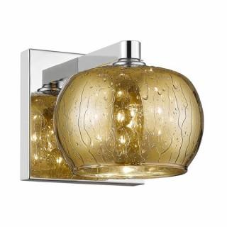 ZUMA LINE Lampa wewnętrzna kinkiet VISTA, W0076-01B-B5GQ, złoty.