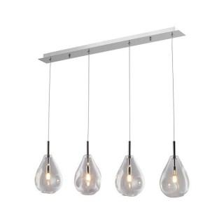 ZUMA LINE Lampa wewnętrzna wisząca BASTONI, MD1921-4A-CLEAR, transparentny.